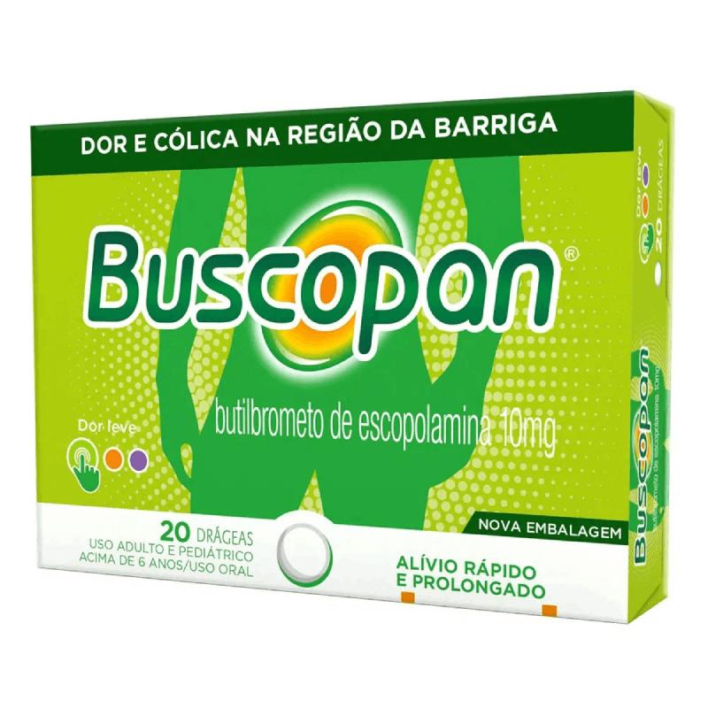 Buscupan- Butilbrometo de escopolamina 10mg- 20 comprimidos