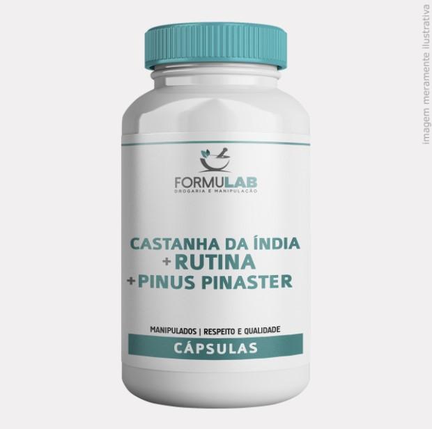 Castanha da Índia 300mg + Pinus Pinaster 50mg + Rutina 100mg