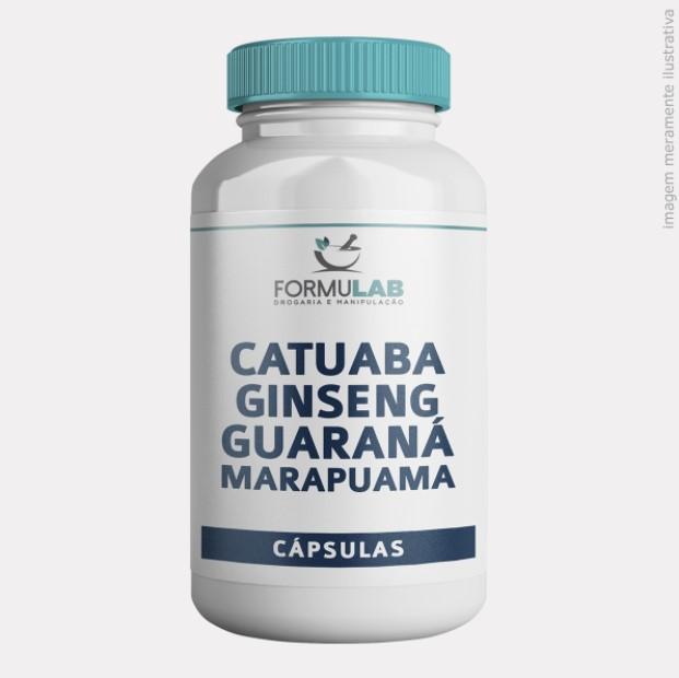 Catuaba 100mg + Ginseng 200mg + Guaraná 100mg + Marapuama 200mg
