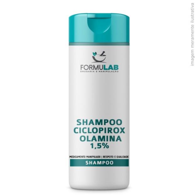 Ciclopirox Olamina 1,5% + Ácido salicílico 2,5% + D-Pantenol 2% - Shampoo Anticaspa