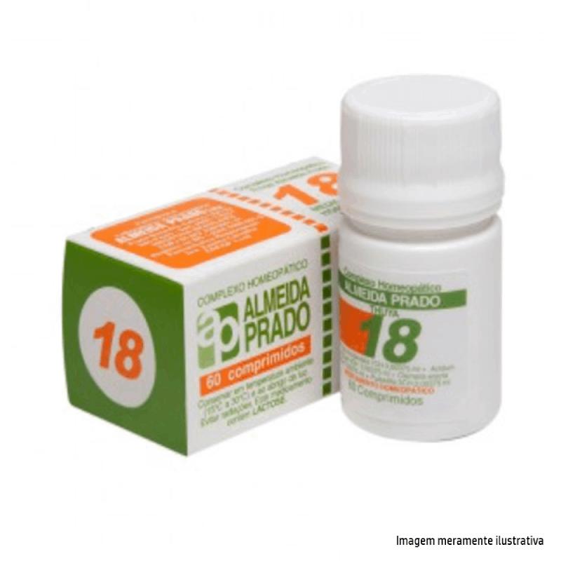 Complexo Homeopático Almeida prado 18- Tratamento dos sintomas da prostatite (60 comprimidos)