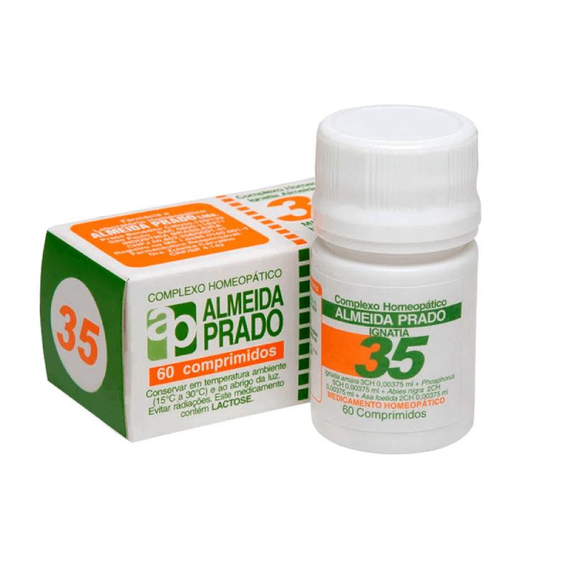 Complexo Homeopático Almeida prado 35- Tratamento da ansiedade e nervosismo (60 comprimidos)