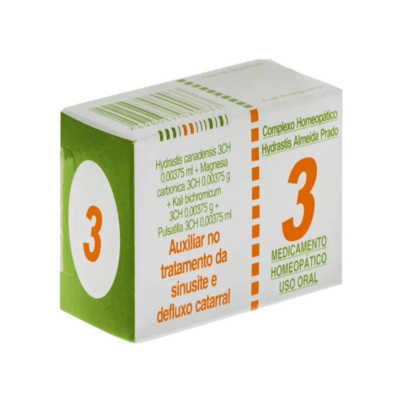 Complexo Homeopático Almeida prado 3- Auxiliar no tratamento da sinusite e desfluxo catarral (60 comrpimidos)