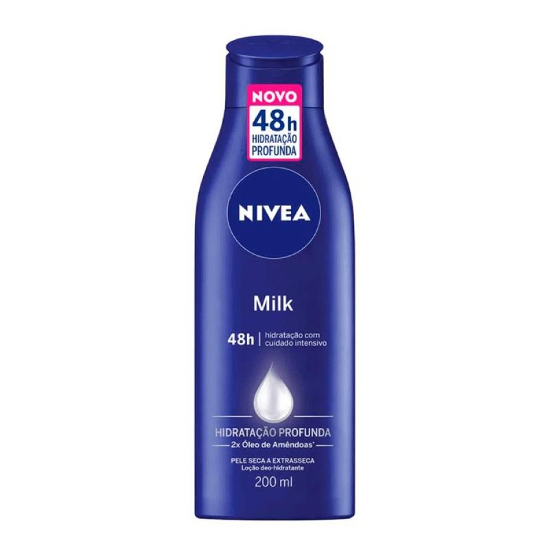 Creme Hidratante para pele- NIVEA Milk 200ml