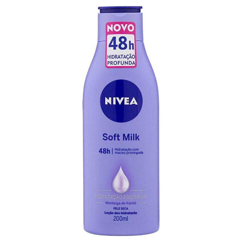 Creme Hidratante para pele- NIVEA Soft Milk 200ml