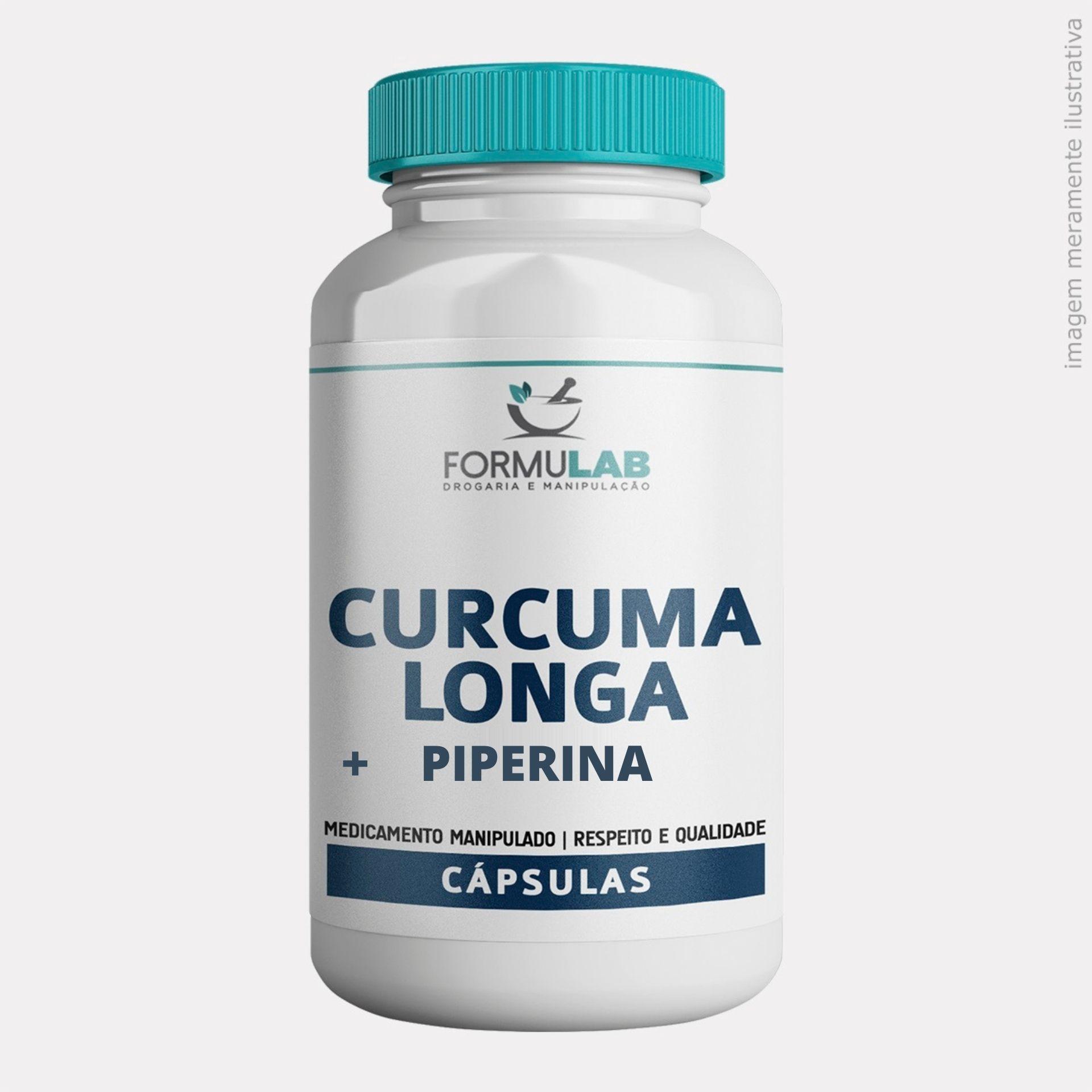 CURCUMA LONGA 500MG + PIPERINA 7,5mg (PIMENTA PRETA)