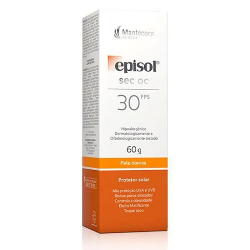 Episol Sec OC Protetor Solar FPS 30 (Pele oleosa) 60g