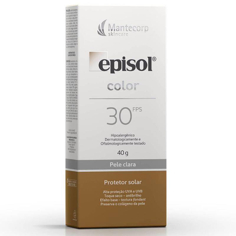 Episol  Protetor Solar Color 30fps (Pele Clara) 40g