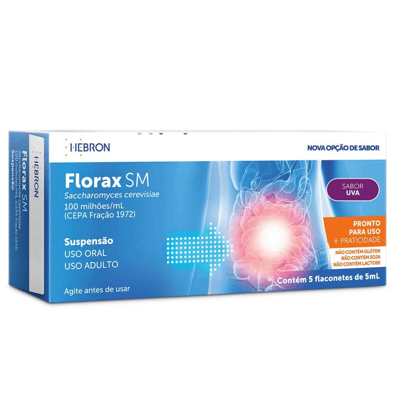Florax SM (Contém 5 flaconetes de 5 ml)