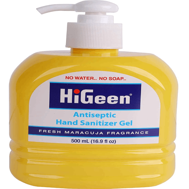 Gel higienizante para as mãos- HiGenn Antibacterial Hand sanitizer Maracujá 500ml