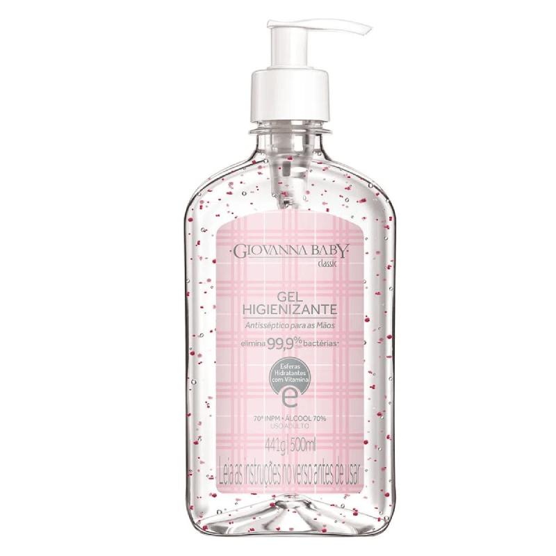 Giovanna Baby classic- Gel higienizante antisséptico para as mãos 500ml