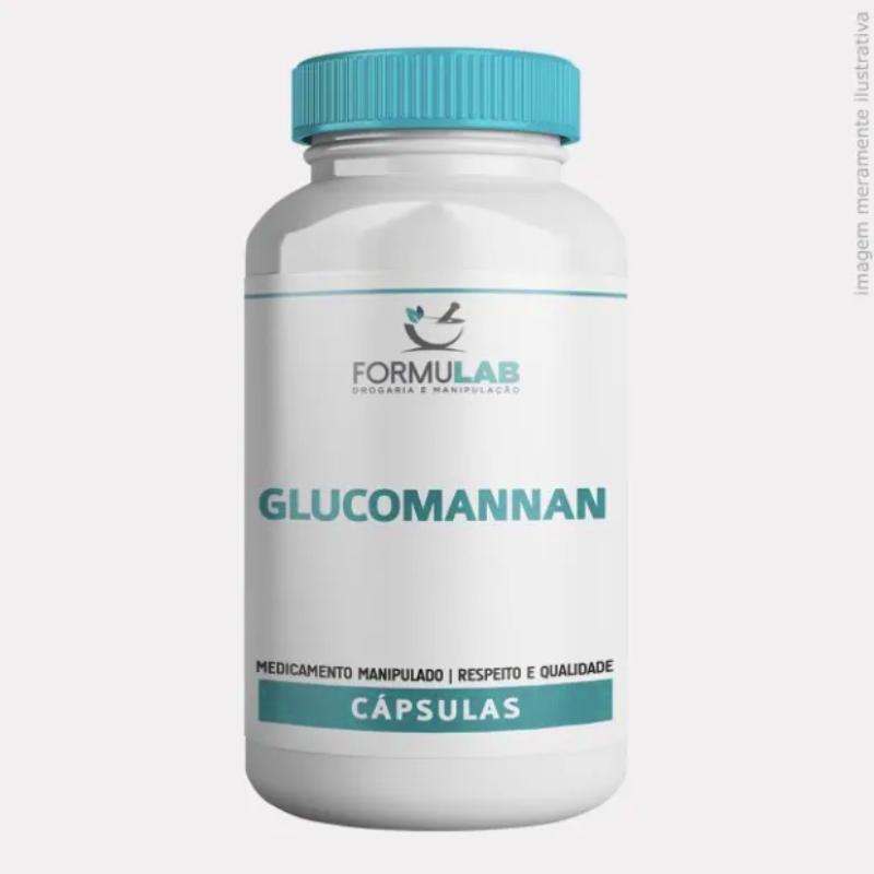 Glucomannan 500mg - Fibra Vegetal