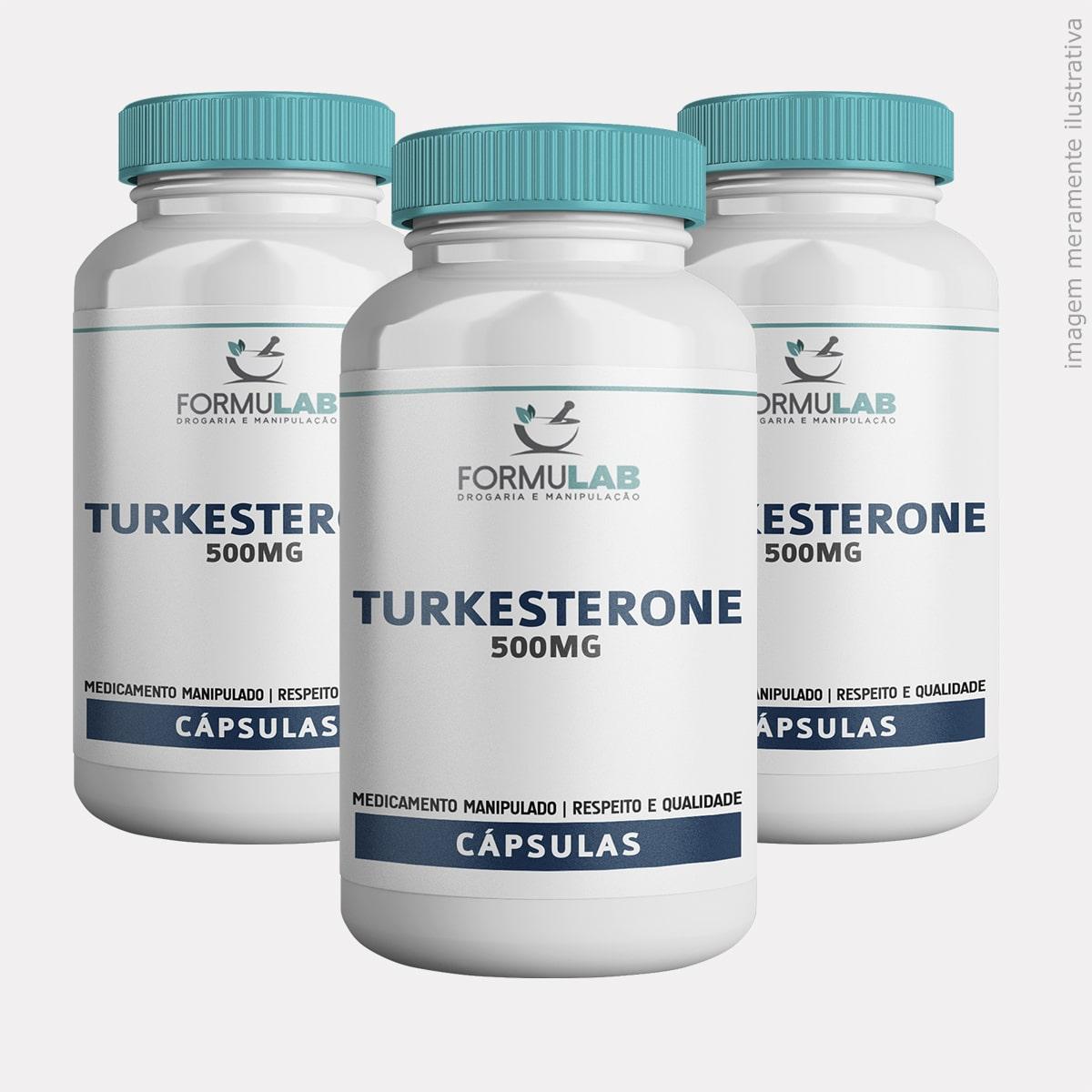 Kit - Turkesterone 500mg - 3 Potes com 60 Cápsulas