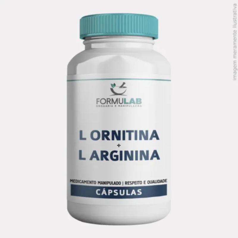 L Ornitina 300mg + L Arginina 200mg