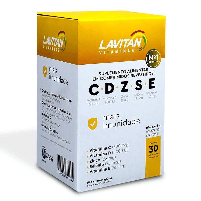 Lavitan C D Z S E - VITAMINAS - Contém 30 Comprimidos