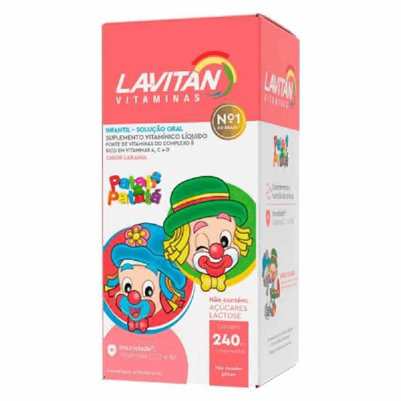 Lavitan Infantil Patati Patatá Solução Oral Laranja 240ml + Copo de medida