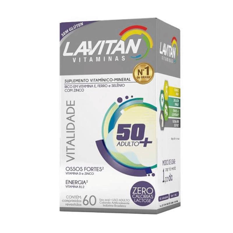 Lavitan Vitaminas + 50 ADULTO - ZERO LACTOSE - 60 Comprimidos