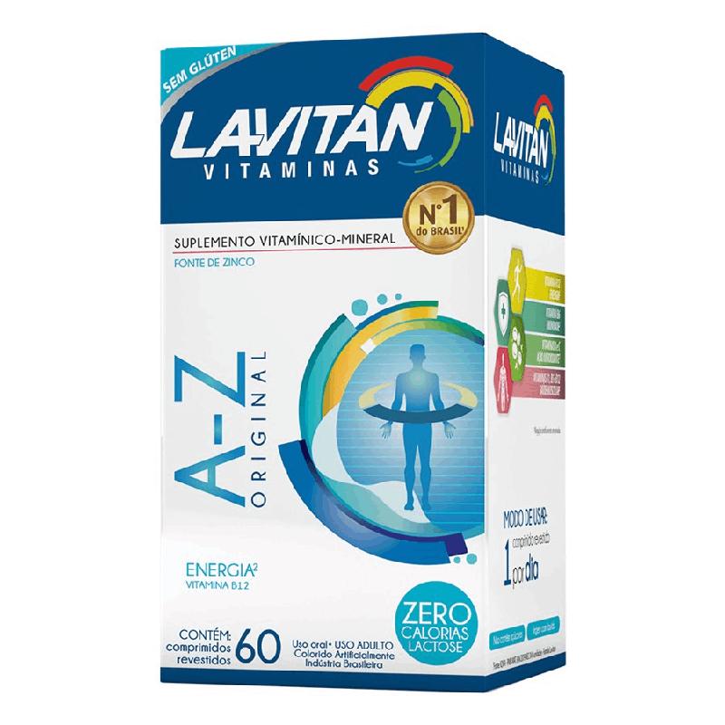Lavitan Vitaminas - A-Z Homem - Contém 60 Comprimidos