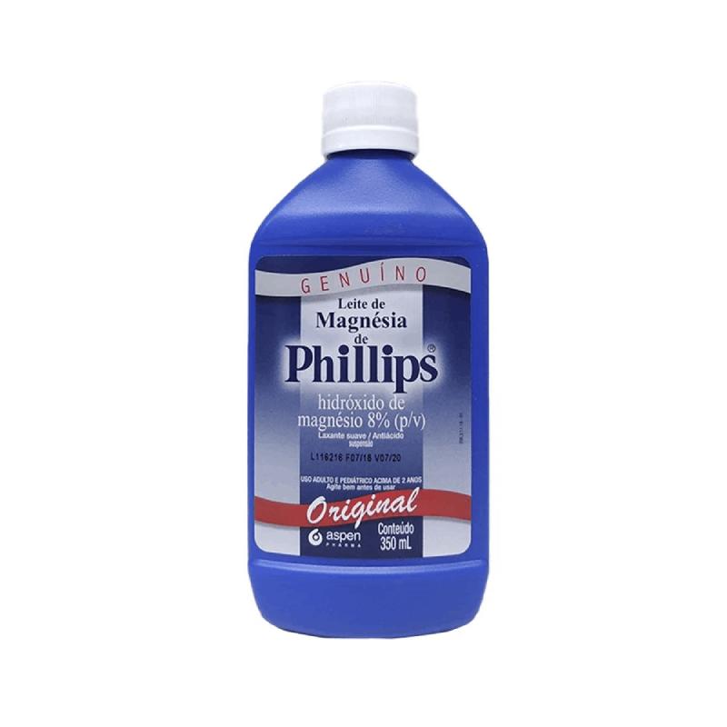 Leite de magnésia de philips tradcional- Hidróxido de magnésio 8% (p/v) 350ml