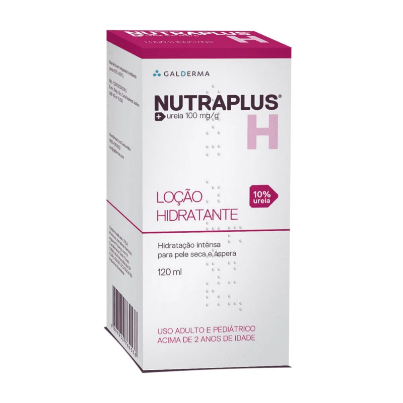 Loção hidratante Nutraplus 10% Uréia pele seca e áspera 200ml (Galderma)
