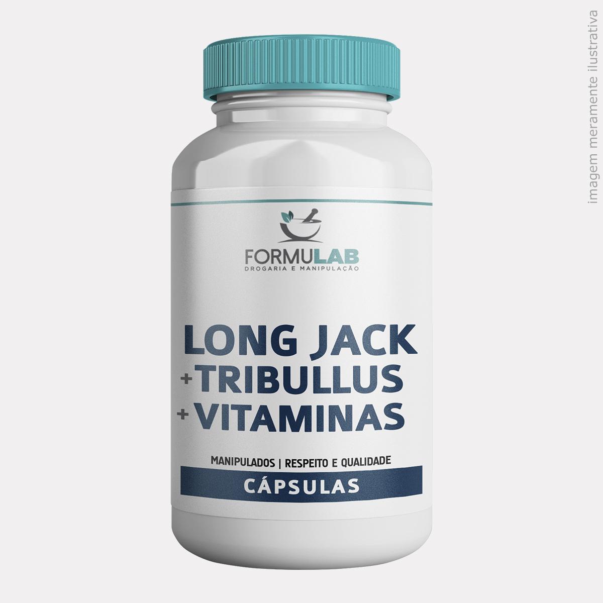 Long Jack 200mg + Tribullus Terrestris 500mg + Maca Peruana 500mg + Vitamina E 200mg + Vitamina B6 5,0mg