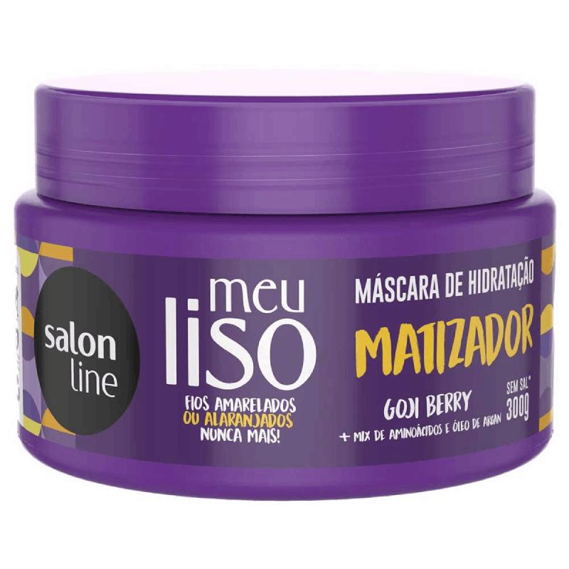 MÁSCARA DE HIDRATAÇÃ SALON LINE MEU LISO MATIZADOR 300G