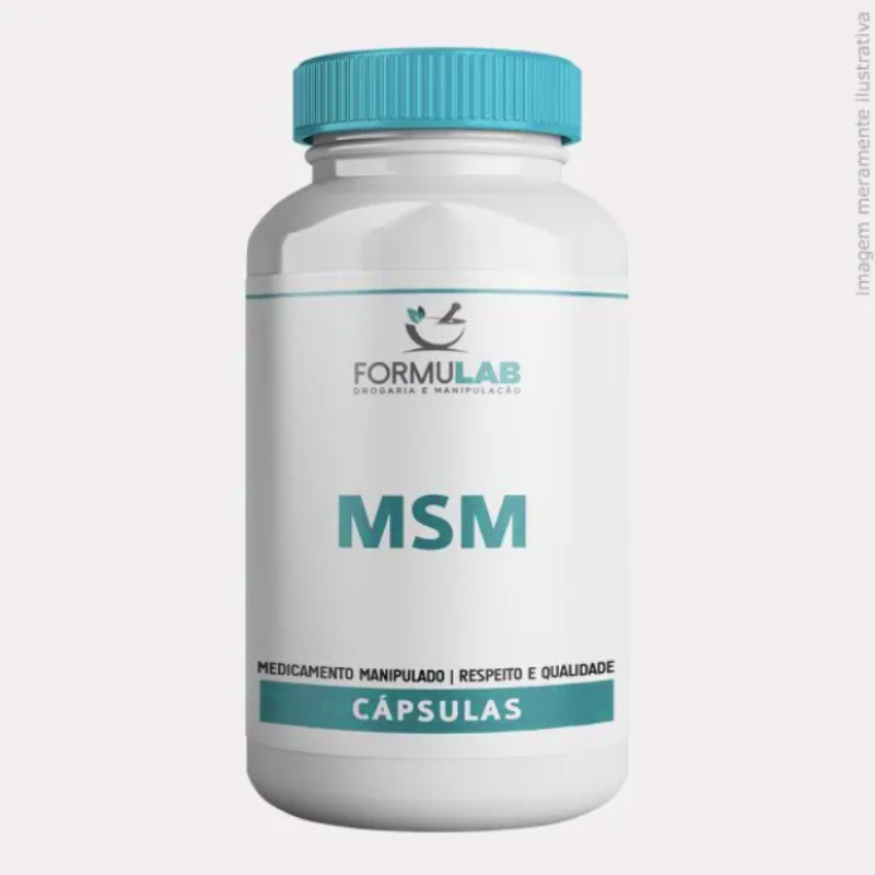 MSM - Metil Sulfonil Metano 500mg - Enxofre Orgânico