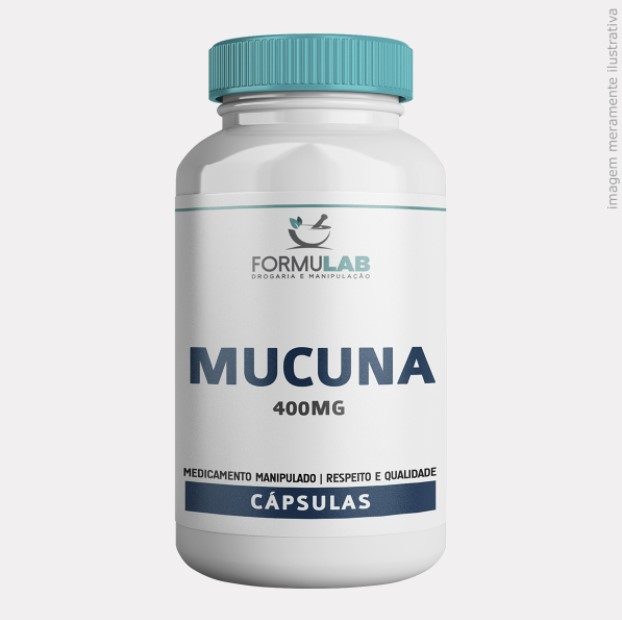 Mucuna Pruriens 400mg - Extrato seco - 100% PURO