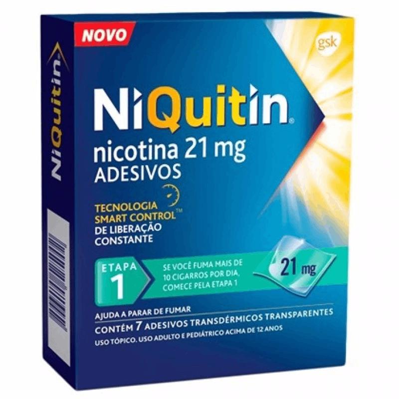 Niquitin 21mg (1 etapa)- 7 adesivos transdérmicos