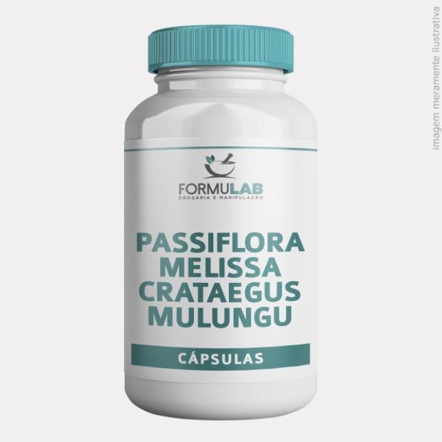 Passiflora 250mg + Melissa 100mg + Crataegus 50mg + Mulungu 50mg