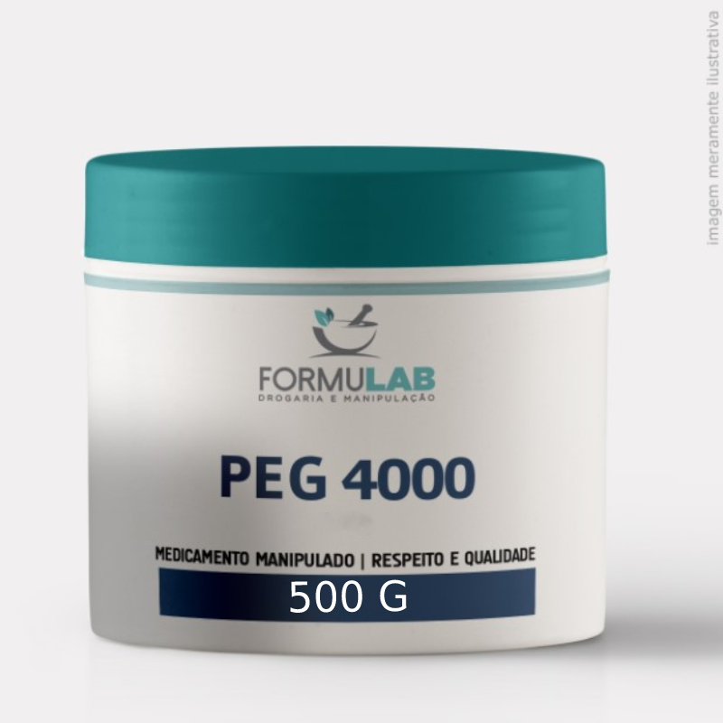 PEG 4000 - Polietilenoglicol - 500 Gramas Puro - Sem eletrólitos