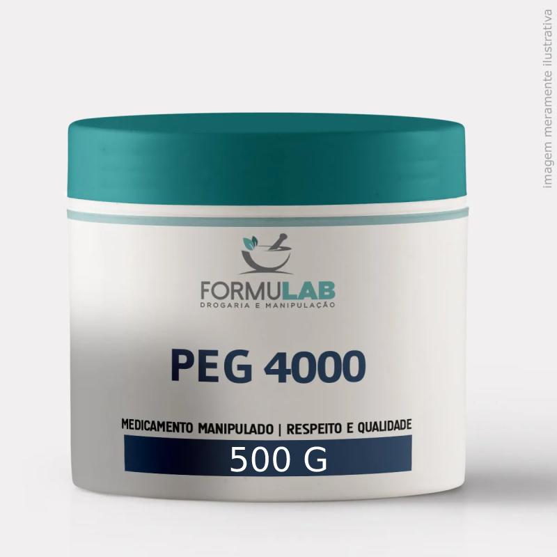 PEG 4000 PURO em Pó Flocado - 500 Gramas - Polietilenoglicol
