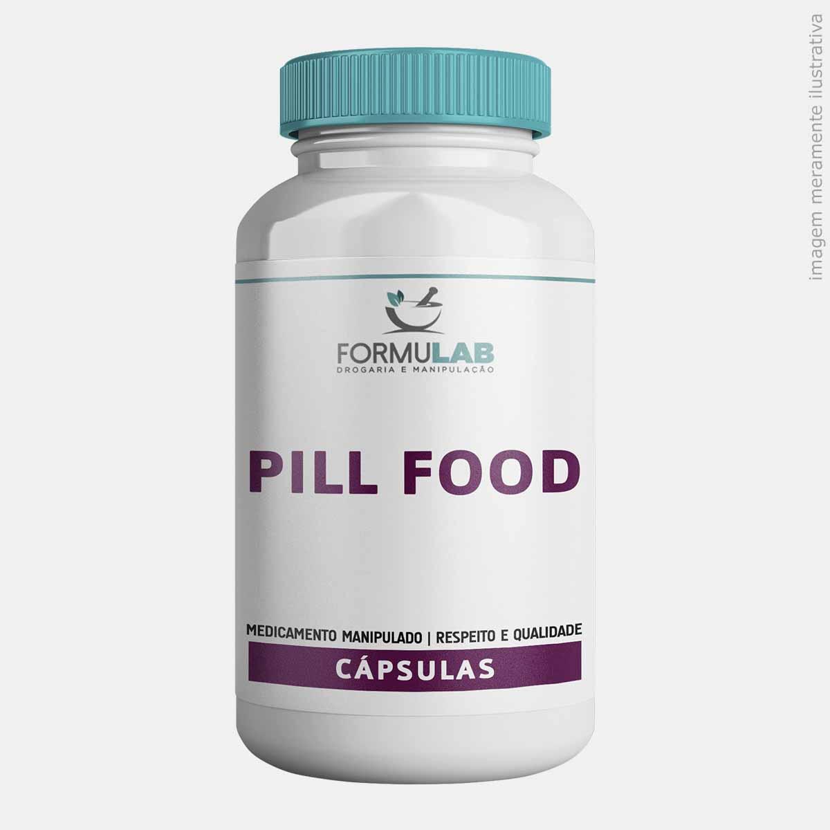 Pill Food - Biotina + Cisteína + Cistina + Colágeno + Metionina + Pantotenato de Cálcio + Vitamina B2 + Vitamina B6 + Vitamina E