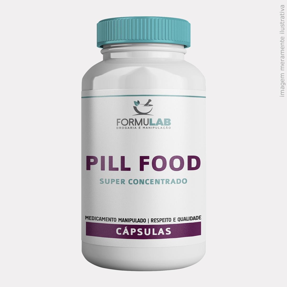 Pill Food Turbinado - Biotina + Cisteína + Cistina + Colágeno + Metionina + Pantotenato de Cálcio + Vitamina B2 + Vitamina B6 + Vitamina E + Vitamina A + Silicio + MSM
