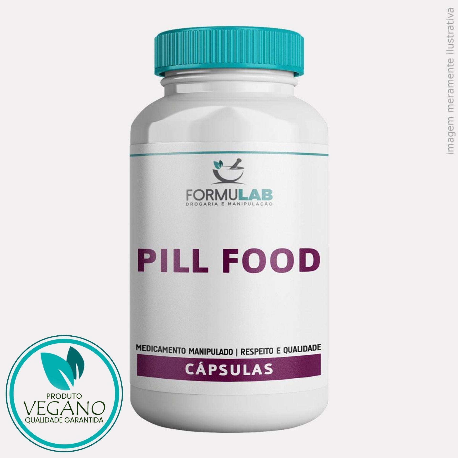 Pill Food VEGAN - Biotina + Cisteína + Cistina + Metionina + Pantotenato de Cálcio + Vitamina B2 + Vitamina B6 + Vitamina E