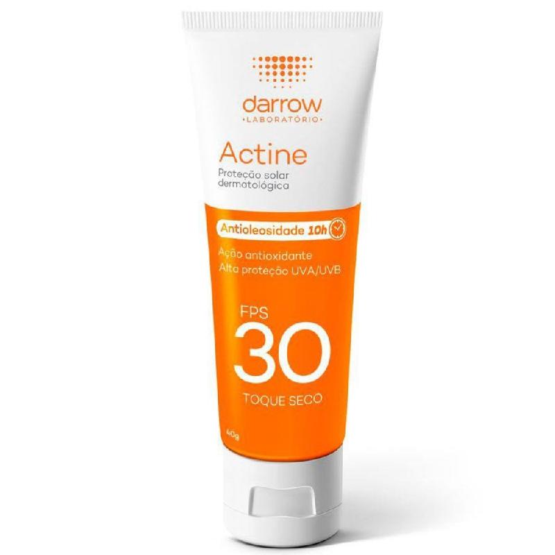 Actine Protetor Solar Toque Seco (Antioleosidade 10h) Darrow 40g