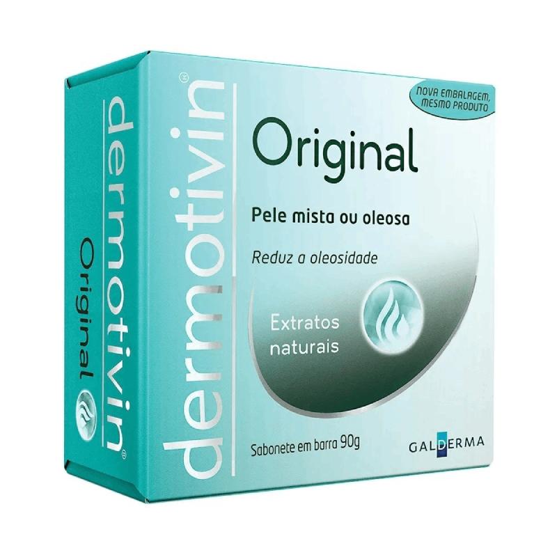 Sabonete Facial em Barra Dermotivin Original Pele Mista a Oleosa 90g