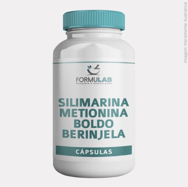Silimarina 200mg Metionina 100mg Berinjela 100mg Boldo do Chile 100mg
