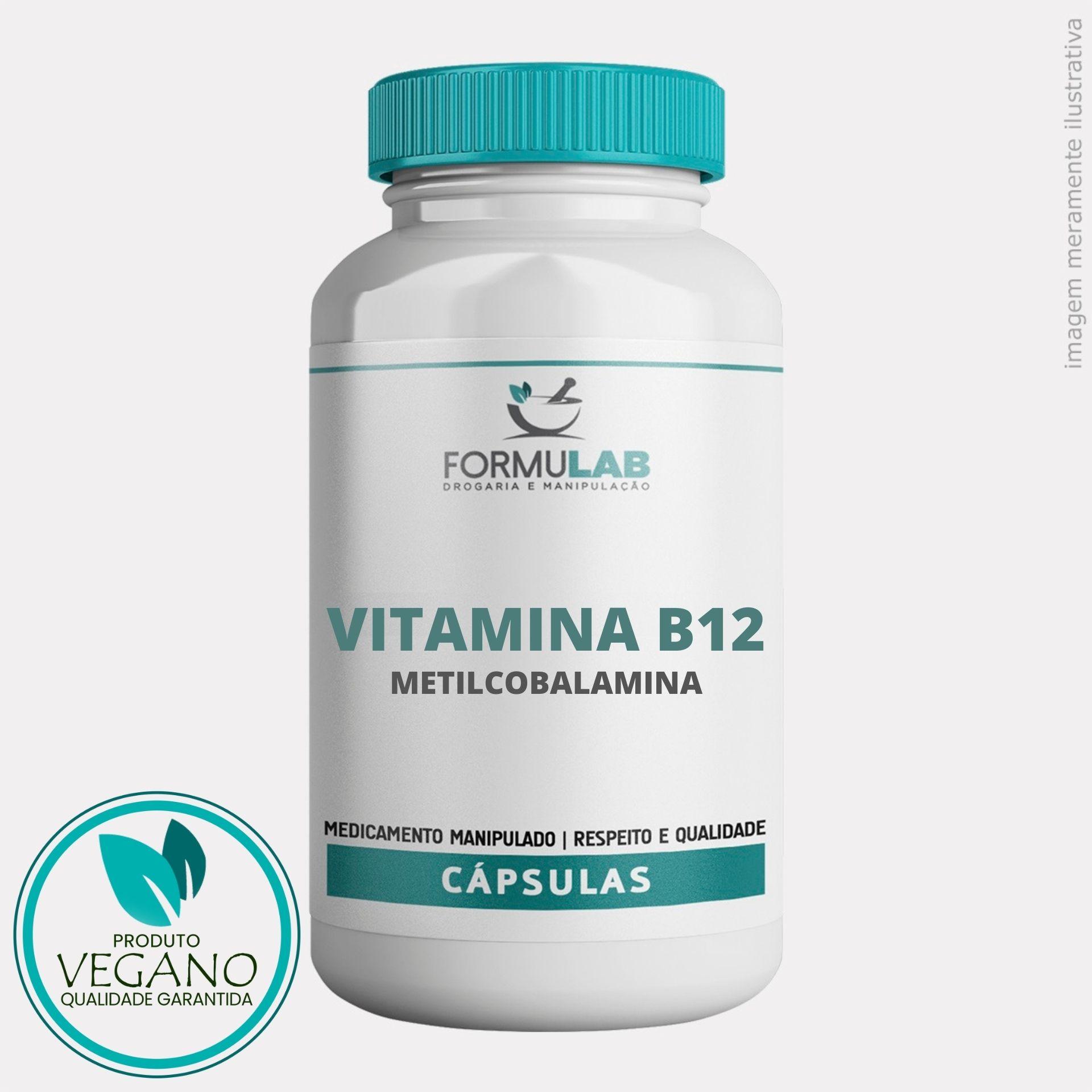 Vitamina B12 500mcg - Metilcobalamina - VEGANA