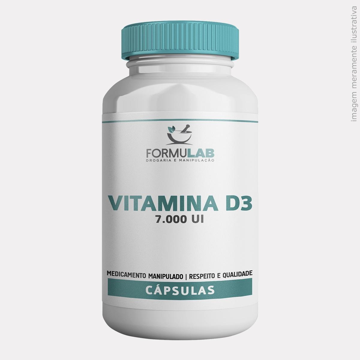 Vitamina D3 7.000 UI - Colecalciferol 7000ui