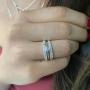 Anel Solitário Delicado Com Cristal Branco - Prata 925