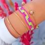 Bracelete Com Faixas Duplas Simples e Lisas Folheado Em Ouro