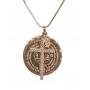 Colar Medalha São Bento Com Crucifixo E Ponto De Luz