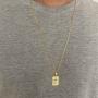 Corrente Masculina Cartier 70 cm Elo Menor Folheado Em Ouro
