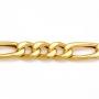 Corrente Masculina Fígaro Flat 3x1 60 cm Folheado Em Ouro