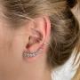 Look 1 brinco ear cuff e 1 brinco falso (10% OFF)