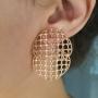 Look 1 colar, 1 anel e 1 brinco filigrama (10% OFF)