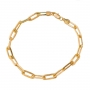 Pulseira Masculina Cartier 20 cm Folheado Em Ouro