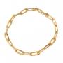 Pulseira Masculina Cartier 22 cm Folheado Em Ouro