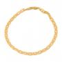 Pulseira Masculina Piastrini 20 cm Folheado Em Ouro